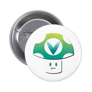 Vinesauce Mushroom 2 Inch Round Button