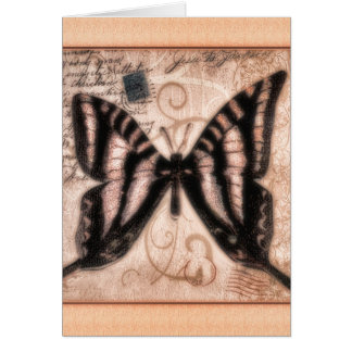 Vinetage Butterfly Tile Card