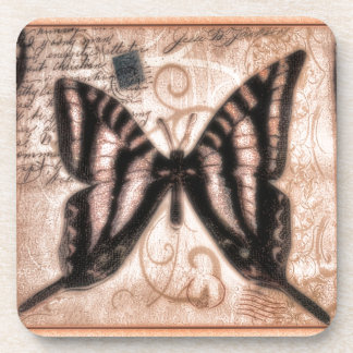 Vinetage Butterfly Tile Coasters