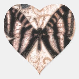 Vinetage Butterfly Tile Heart Sticker