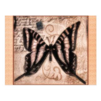 Vinetage Butterfly Tile Postcard