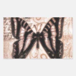 Vinetage Butterfly Tile Rectangular Sticker