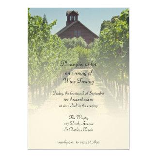 Vineyard and Barn Wine Tasting Party Invitation