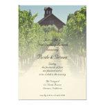 "Vineyard and Red Barn Post Wedding Brunch Invite 5"" X 7"" Invitation Card"