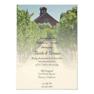 Vineyard and Red Barn Rehearsal Dinner Invite