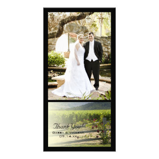 Vineyard and Rose Fence Thank You Photo Card