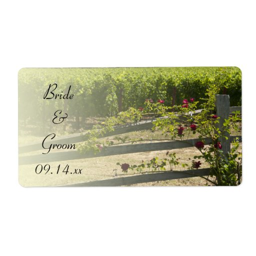 Wedding Favor Tags And Labels : Vineyard and Rose Fence Wedding Favor Tags Label Zazzle