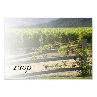 Vineyard and Rose Fence Wedding RSVP Card