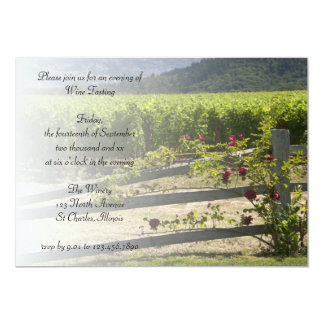 Vineyard and Roses Wine Tasting Party Invitation