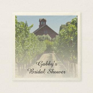 Vineyard and Rustic Red Barn Bridal Shower Napkin