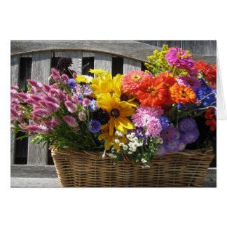 Vineyard basket greeting card