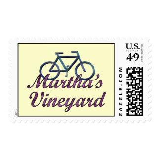 Vineyard Bicycle Postage Stamp