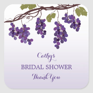 Vineyard Bridal Shower Favor Sticker