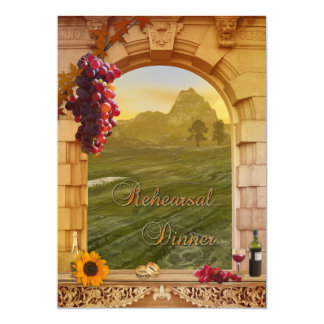 Vineyard Fall Wedding Rehearsal Dinner Invitation