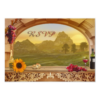 "Vineyard Fall Wedding RSVP Invitation 3.5"" X 5"" Invitation Card"