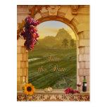 Vineyard Fall Wedding Save the Date Postcard