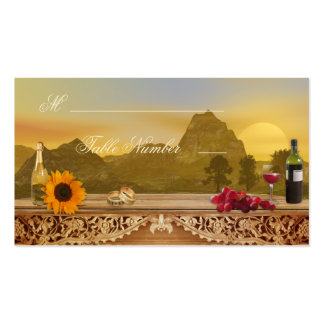 Vineyard Fall Wedding Seating Table Place Cards Business Card