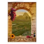 Vineyard  Fall Wedding Thank You Card