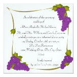 Vineyard Harvest Grapes Rehearsal Dinner 5.25x5.25 Square Paper Invitation Card