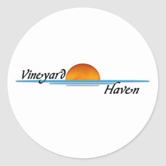 Vineyard Haven Classic Round Sticker