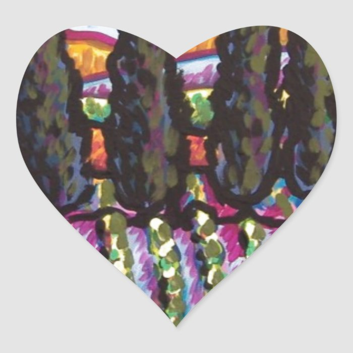 Vineyard Heart Sticker