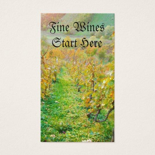 Vineyard in Autumn Business Card