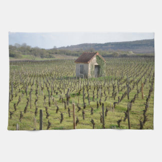 Vineyard in Burgundy France Kitchen Towel