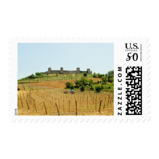 Vineyard in front of a fort, Monteriggioni, Postage