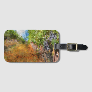 Vineyard in Napa Valley California Bag Tag