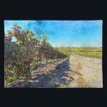 "Vineyard in Napa Valley California Cloth Placemat<br><div class=""desc"">Vineyard in Napa Valley California</div>"