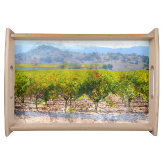 Vineyard in Napa Valley Serving Tray