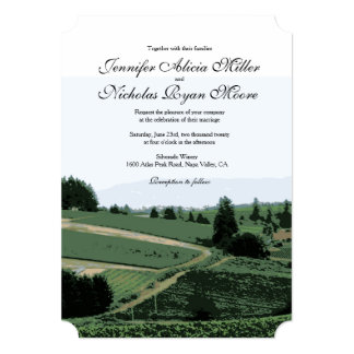 "Vineyard Landscape Winery Wedding Invitation 5"" X 7"" Invitation Card"