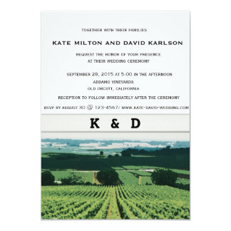 Vineyard Landscape Winery Wedding Invitation Personalized Announcements