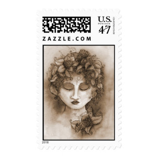 Vineyard Nymph Postage Stamp