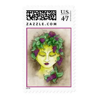 Vineyard Nymph Postage Stamp 2