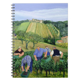 Vineyard Olives and Sunflowers Spiral Notebook