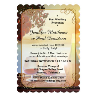 Vineyard or Wine Post Wedding Party Invitation