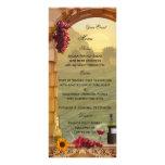 Vineyard or Wine Themed Menu Card Rack Cards