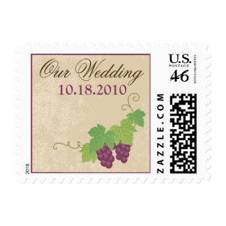 Vineyard Our Wedding Postage Parchment Texture