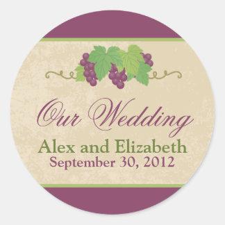 Vineyard Our Wedding Sticker (Parchment Texture)