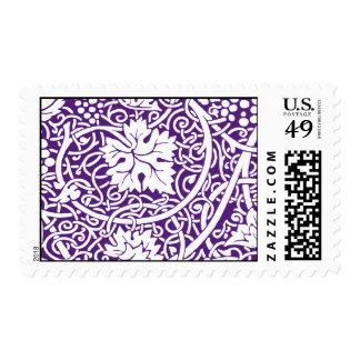 Vineyard Purple Background Postage