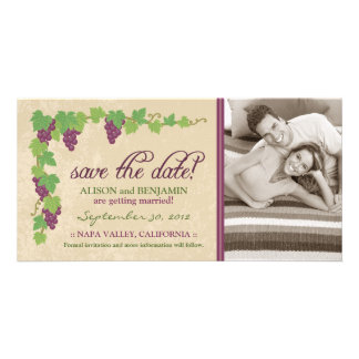 Vineyard Save the Date Announcement (Parchment) Photo Card