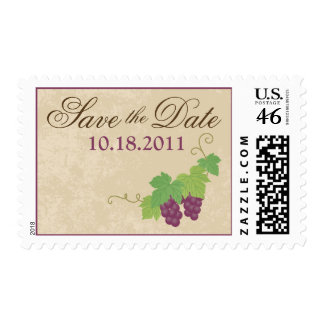 Vineyard Save the Date Postage Parchment Texture