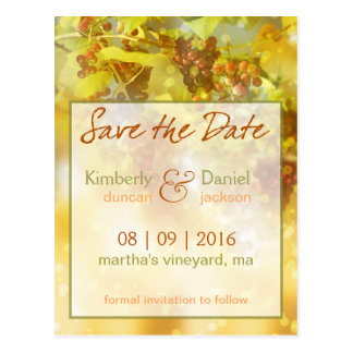 Vineyard Save the Date Postcard