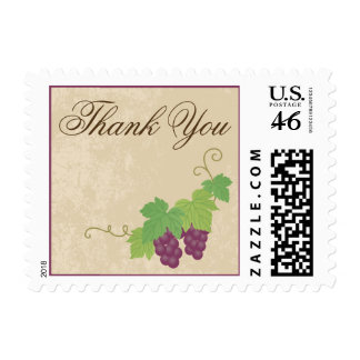 Vineyard Thank You Postage Parchment Texture