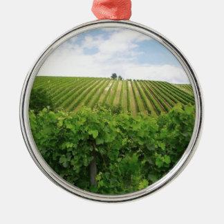 Vineyard - Vignoble (Bordeaux - France) 01 Metal Ornament