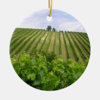 Vineyard - Vineyard (Bordeaux - France) 02 Ceramic Ornament