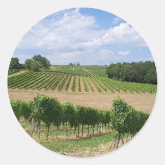 Vineyard - Vineyard (Bordeaux - France) 04 Classic Round Sticker
