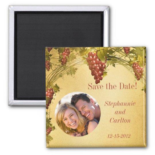 Vineyard Wedding Announcement Magnet