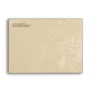 Vineyard Wedding Envelope (Parchment Texture)